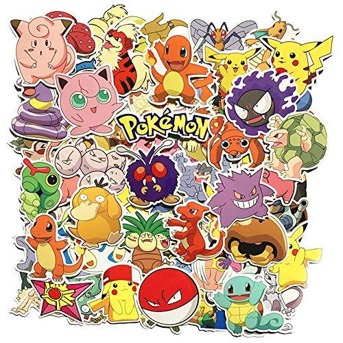 80 Stücke Pokemon Sticker Pack, einzigartige Kühle Aufkleber...