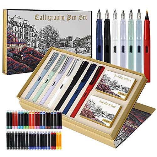 Kalligraphie Stifte Set, 7 Kalligraphie Füllfederhalter mit...
