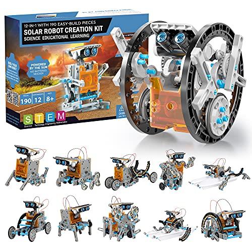 Solar Roboter Bausatz Kinder STEM Experimente 190 Stücke...