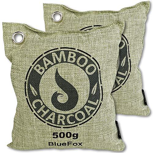 BlueFox Lufterfrischer aus Bambus Aktivkohle im 2er Set - 500g -...
