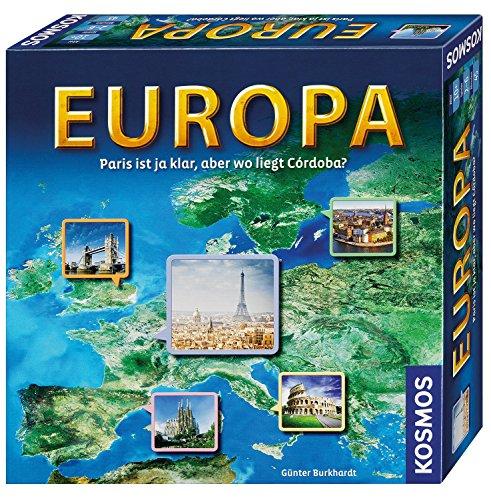 KOSMOS 692636 Europa, Geografie-Spiel, Familienspiel für 2 - 6...