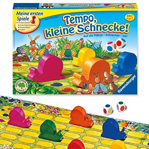 Ravensburger Kinderspiel 21420 - Tempo kleine Schnecke - Das...