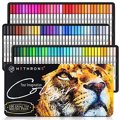 Hethrone Dual Brush Pen Set 100 Farben Pinselstifte Filzstifte...