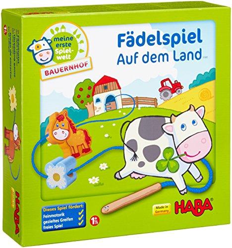 Haba 5580 - Meine erste Spielwelt Bauernhof Fädelspiel auf dem...
