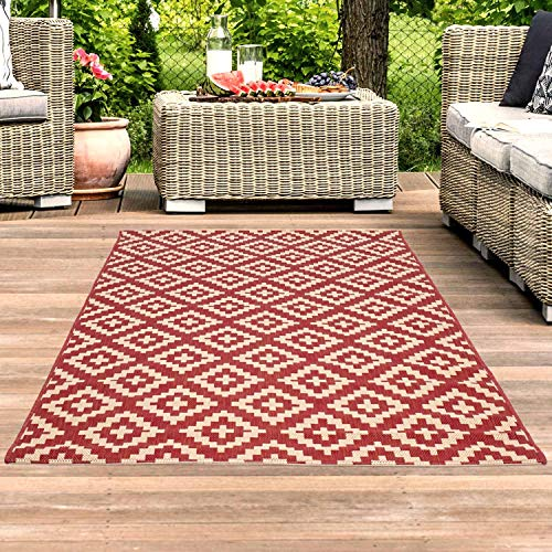 carpet city Outdoor-Teppich Wetterfest Balkon Terrasse Modern...