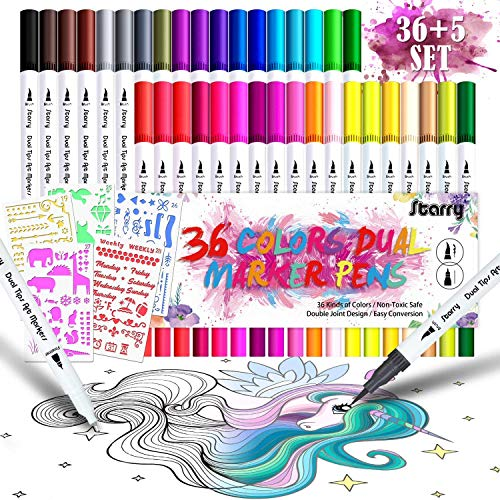 Dusor 36 Farben Filzstifte Set, Filzstifte für Bullet Journal...