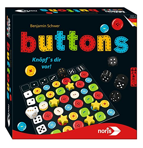 noris 606101435 - Buttons, Familienspiel