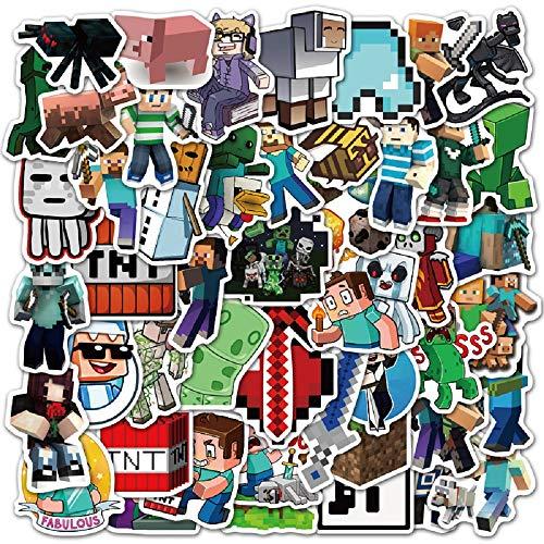Huayao 50pcs Minecraft Aufkleber Vinyl wasserdichte Stickers für...