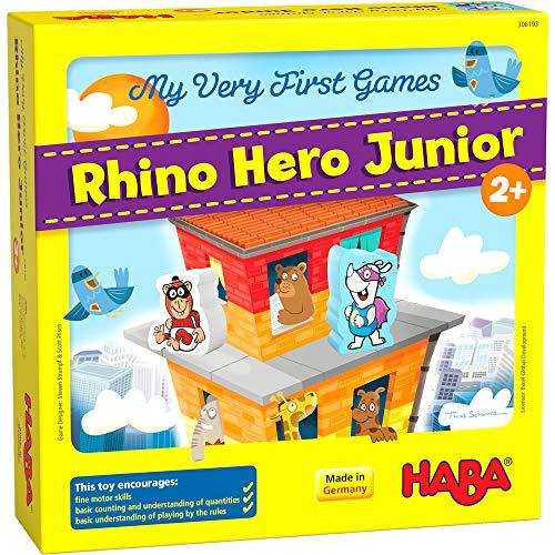 HABA 306193 - Meine allerersten Spiele - Rhino Hero Junior - Ein...