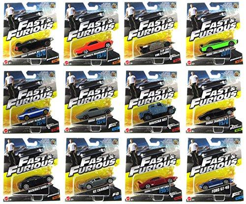 Fast & Furious Set 12 Modellautos 1:55 Mattel FCF35