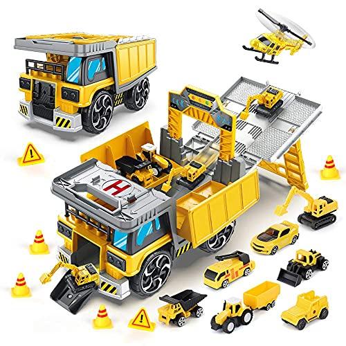 kramow Kinder Fahrzeuge Spielzeug Set,Transport LKW baufahrzeuge...