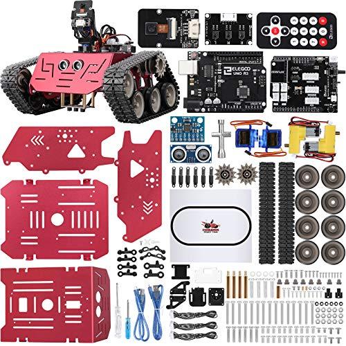 ELEGOO Smart Robot Tank Kit Kompatibel mit Arduino IDE Elektronik Baukasten mit UNO R3, Line...
