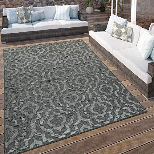 Paco Home In- & Outdoor Terrassen Teppich Ethno Muster Bordüre...