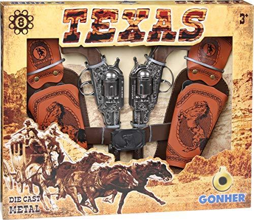 Gonher 234/0 - Spiel-Set Texas 8-Schuss