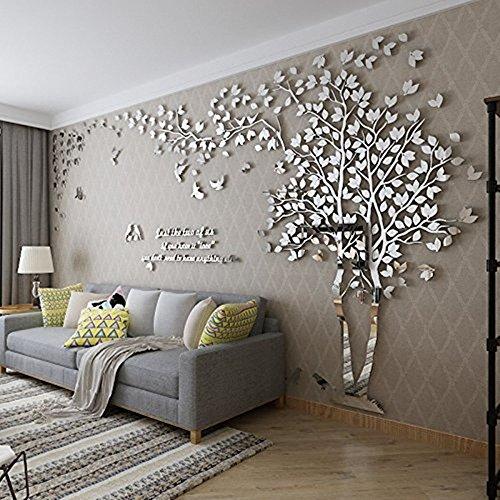 DIY 3D Riesiger Baum Paar Wandtattoos Wandaufkleber Kristall...
