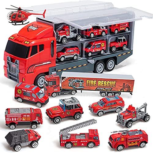 Coolplay Feuerwehrauto Groß Autotransporter Spielzeug...