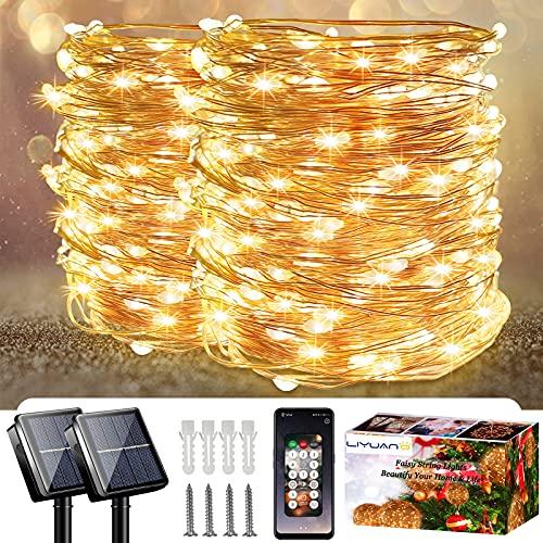 LiyuanQ Solar-Lichterkette für den Außenbereich, mit...
