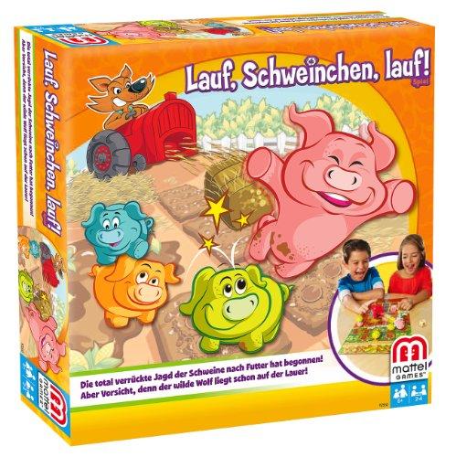 Mattel Y2552 - Lauf, Schweinchen, lauf, Strategiespiel für...