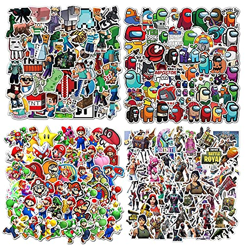 Lanseede 200St. Gaming Stickers Set Mine-Craft Aufkleber, Super...
