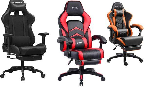 Gaming Stühle mit Fußstütze