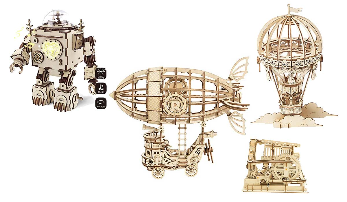 Holz 3D-Puzzel