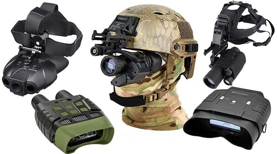 Infrarot-Nachtsichtgeräte am Helm