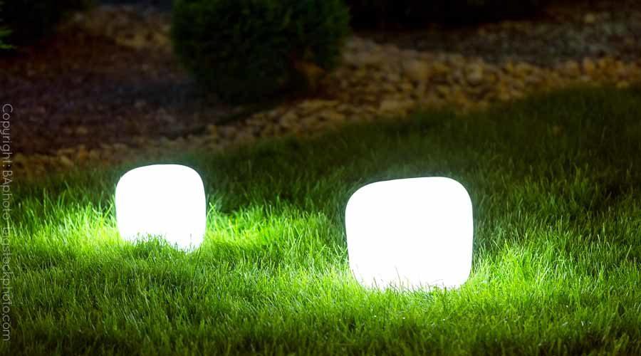 LED Lichtwürfel für den Garten