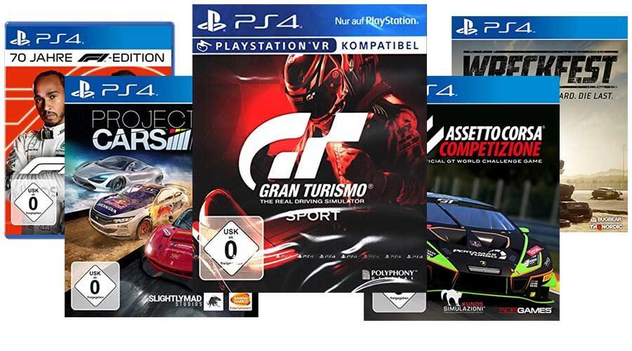 PS4 Autorenn-Spiel