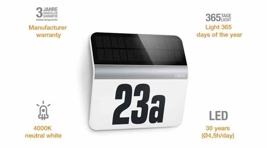 Solar Hausnummern