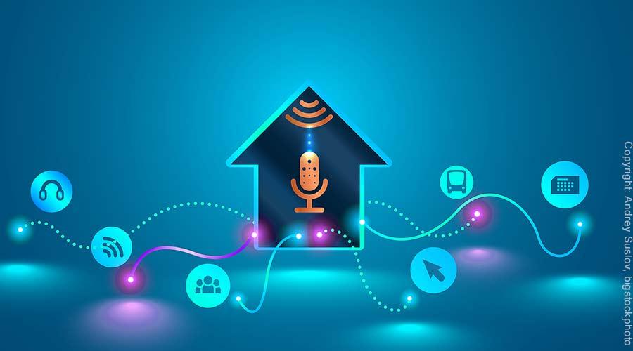 Sprachassistent für Smart Home Steuerung