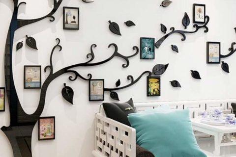 Bilderrahmen Wandaufkleber als Baum