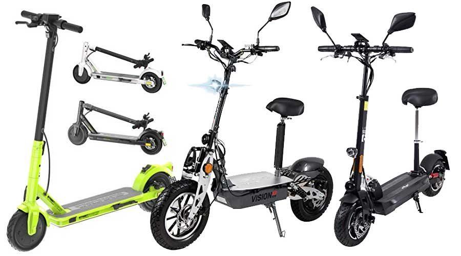klappbare E-Scooter