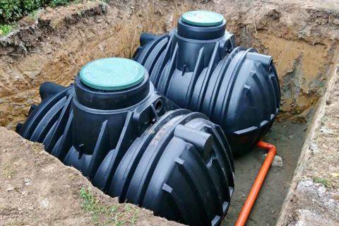 unterirdischer Regenwassertank